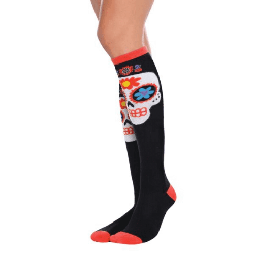 Day Of The Dead Sugar Skull Knee High Socks
